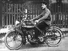 1918 Indian Motorcycle Antique Police RARE Action Photo Reprint Pic Image M8