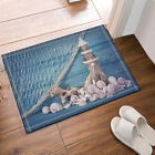 Lighthouse On Wooden And Fishing Nets Bathroom Fabric Shower Curtain Set 71Inch