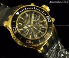 NEW Invicta Mens Sub Aqua Specialty 18K Gold Plated Stainless Chronograph Watch!
