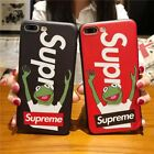 Cool Supreme Kermit Frog Pattern Shockproof Soft Phone Case Back Cover Bumper