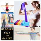 5 Feet Stretch Resistance Bands Exercise Pilates Yoga GYM Workout Physio Aerobic image