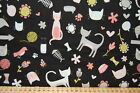 Riley Blake 'Meow' Pussy/Kitty Cats & Accessories 100% Cotton Fat Quarter