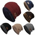 Men Women Outdoor Camping Knit Hat Winter Beanie Baggy Warm Wool Fleece Ski Cap