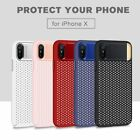 For iPhone X Breathable Protect PC Phone Case Ultra-Thin Shockproof Back Cover