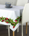 Christmas Holly Border Tablecloths - Assorted Sizes!