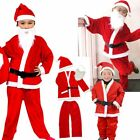 Kids Boys Santa Claus Clothes Father Christmas Suit Fancy Dress Outfit Costume