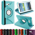 Leather 360 Rotating Stand Case Cover For Galaxy Tab 3 Lite 7.0 T110, T111 - UK
