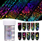 Holographic Nail Art Foil Valentine's Day Rose Laser French Transfer Stickers