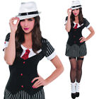 Womens Gangster Costume Fancy Dress 20s Sexy Pinstripe Sizes 8-12 Amscan 1920s