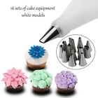 14x Nozzle + Silicone Icing Piping Cream Pastry Bag Set Cake Decorating Tool RFE