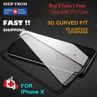 IPhone X 8 7 & Plus Tempered Glass Screen Protector Guard 3D Full Cover Crystal