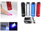 Mini LED UV Gel Lamp Light Nail Dryer Flashlight Torch For Nail Polish Manicure