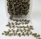 3 Feet Natural Pyrite Dangling Chain Rondelle Faceted beaded chain 3 to 4mm bead