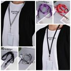 Set of 10 ID Card Holder Necklace Neck Strap String Lanyard with Lobster Clasp
