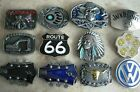 BELT BUCKLE MIXED DESIGNS BUCKLES FOR BELTS WHOLESALE MUSIC DRINKS BIKER INDIAN