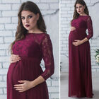 USA Pregnant Women's Lace Maternity Dress Maxi Gown Photography Photo Clothes