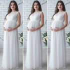 USA Pregnant Womens Lace Maternity Dress Maxi Gown Photography Photo Clothes