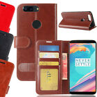 For One Plus 5T 5 T Magnetic Flip PU Leather Wallet Card Soft Case Stand Cover