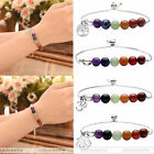 7 Chakra Healing Reiki Beaded Gemstone Bracelet Adjustable Jewelry Gift Hot