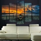 small beach home - Canvas Print Wall Art Painting Pictures Homes Decor Poster Abstract Beach Sunset