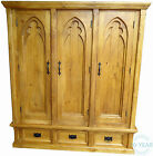 Gothic 'Medieval Style' Double Triple Quad Sized Wardrobe - Handmade Solid Wood