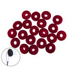20pcs 15mm Black Red Earphone Ear Pad Foam Cushion Cover Replacement s524