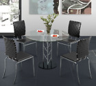 Chardonnay Round Glass Dining Table Set Sold By Best Online Furniture Store