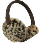 Barts Ear Warmers Earmuffs Accessoire Brown Faux Fur Leopard Warm