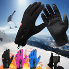 US Mens Women Winter Warm Gloves Touch Screen Windproof Waterproof Outdoor Sport