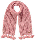 Barts Scarf Neck Warmer Winter Scarf Rosa Solace Chunky Knitted Fringes