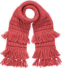 Barts Scarf Knitted Winter Scarf Red LUX Chunky Knitted Fringes Warm