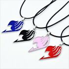 Anime Fairy Tail Natsu Dragneel Guild Cosplay Leather Cord Pendant Necklace New