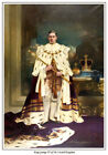 KING GEORGE VI OF THE UNITED KINGDOM IN CORONATION ROBES PRINT. BRITISH MONARCHY