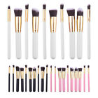 10 pcs Fashion Makeup Brushes Set Core Collection Starter Kit Eyeshadow Tool