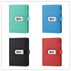 A6 Code Password Lock Leather Blank Diary Book, Secret Notebook-New Designed