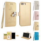 Bling Diamond Magnetic Stand Folio Flip Case Cover For iPhone X 6 6S 7 8 Plus