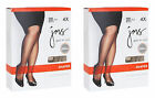 2 Pack Just My Size Pantyhose Shaper with Silky Leg 3XL-4XL Best Seller