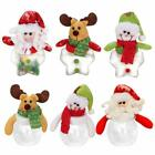 1x Christmas Candy Holders Mini Santa Plastic Bottle Xmas Decoration Gift Holder