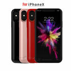 New External Charging Case For iphone X 5200mAh Rechargeable Backup Power Bank