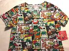Christmas Holiday Scrub Top - Medical Dental Nursing Vet - You Choose - Rudolph