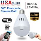 360 Degree Panoramic Wireless Wifi Camera Light Bulb 1080P Security Lamp IP Cam