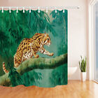 Wild Tiger Walking On Tree Bathroom Polyester Fabric Shower Curtain Set 71inches