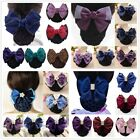 Bowknot With Net Pocket Hairpin OL Stylish Women Hairgrip Hair Clip Fashion New