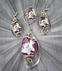 CAMEO PENDANT, NECKLACE, EARRINGS AND RING SET WIRE WRAPPED BUTTERFLIES
