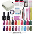 UV/LED Nail Gel Polish Starter Kit Set 36W UV Lamp 20 Color Gel Nail Polish 10ml