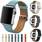 Luxury Leather Watch Strap Bracelet Wrist Band For Apple Watch Series 3/2/1 New image