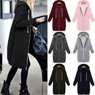 womens long winter coats - Women Warm Zipper Hoodie Sweater Hooded Long Jacket Sweatshirt Coat Plus Size US