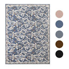 Bordered Area Rug Contemporary Floral Vines Scrolls Rug Carpet - Assorted Colors