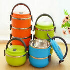 Hot ! 1-4Layer Lunch Box Stainless Steel Insulated Thermal Bento Food Container
