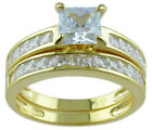 14Kt Gold Pl 2.75ct Princess Cut Cz Engagement Wedding 2 Ring Set 5 6 7 8 9